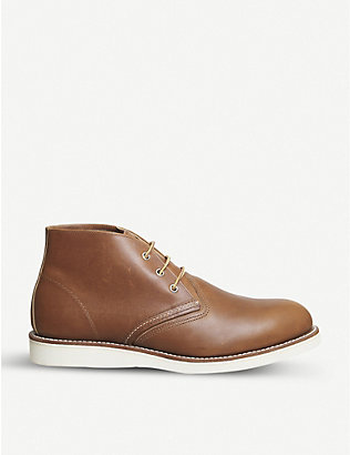 REDWING: Work Chukka leather boots