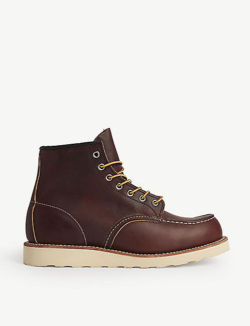 REDWING: Work wedged leather boots