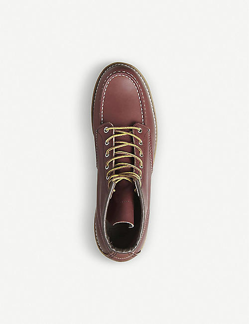 REDWING Moc Toe leather platform ankle boots