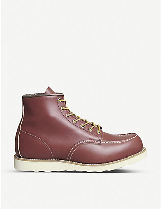 REDWING: Moc Toe leather platform ankle boots
