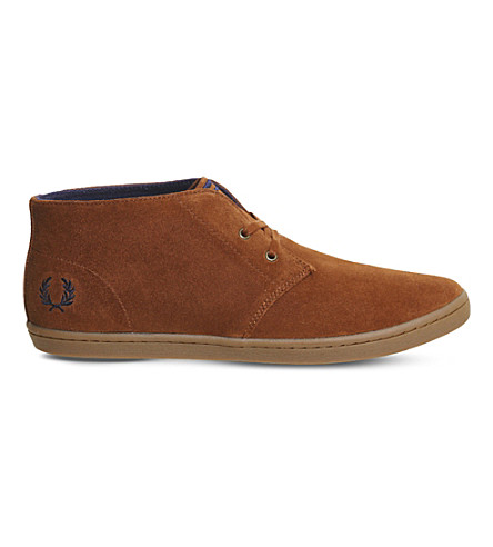 432138cfff3 FRED PERRY Byron suede desert boots (Tan+carbon+blue