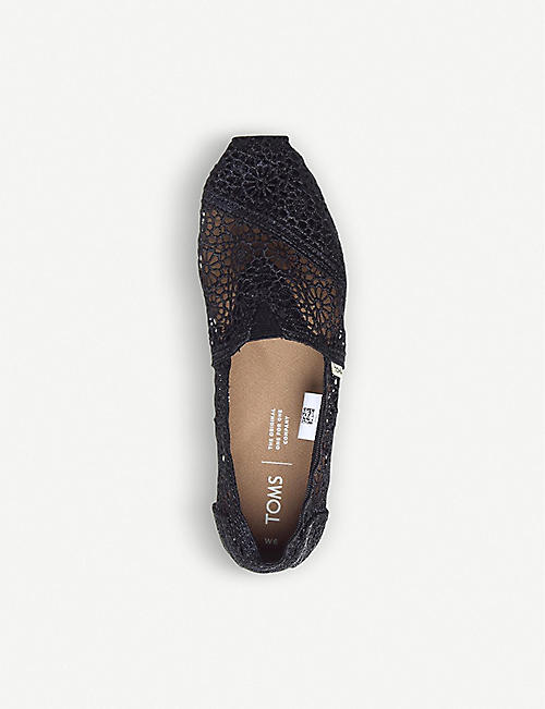 TOMS Crochet slip-on espadrille shoes