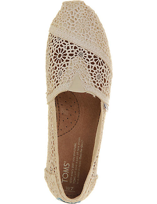 TOMS Classic crochet shoes