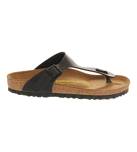Ramses Faux-Leather Thong Sandals, Black Patent
