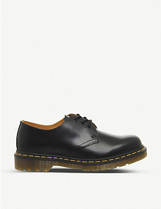 DR. MARTENS: 3-eyelet leather shoes