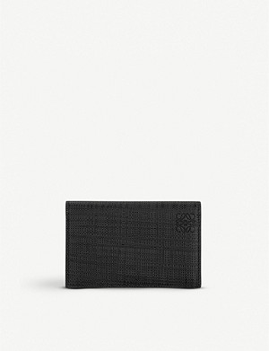 LOEWE Textured leather business card holder