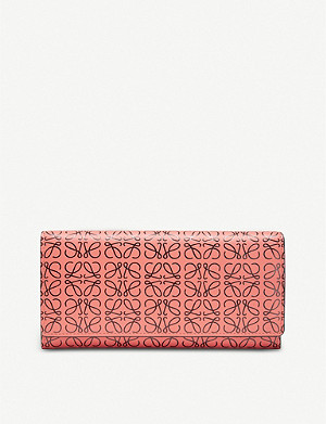 LOEWE Continental logo-embossed leather wallet