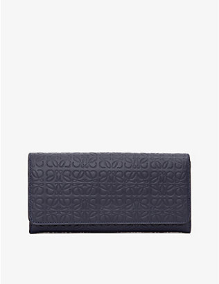 LOEWE: Continental logo-embossed leather wallet