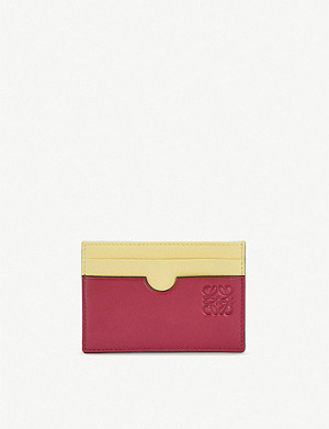 LOEWE Colour block leather cardholder