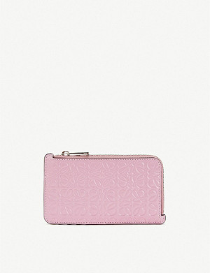 LOEWE Logo-embossed leather coin and card holder