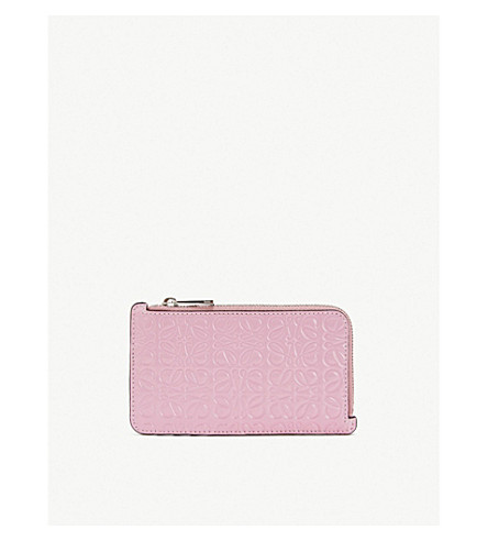 Loewe Accessories Logo-embossed leather coin and card holder