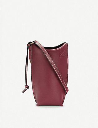 LOEWE: Gate Pocket leather bucket bag