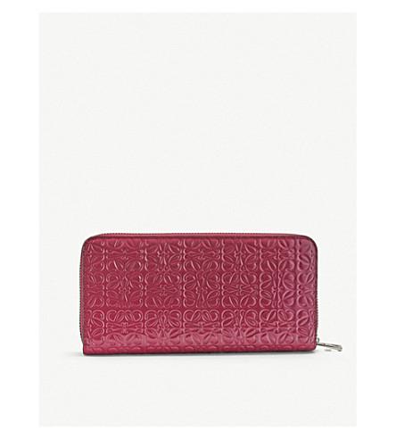 Loewe Wallets Embossed zip-around leather wallet