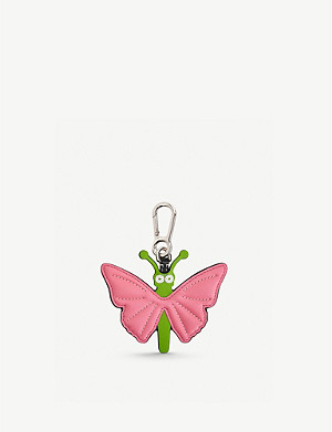 LOEWE Butterfly dangling leather charm