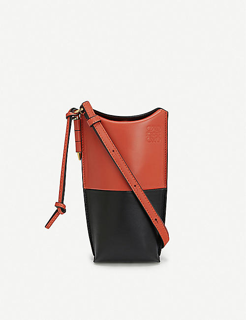 LOEWE Gate Pocket leather bucket bag