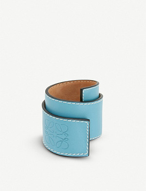LOEWE Small leather slap bracelet