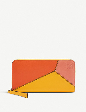 LOEWE Puzzle zip-around leather wallet