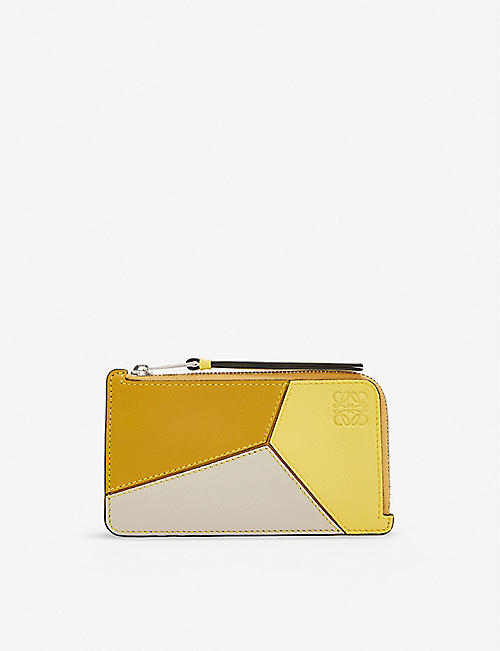 LOEWE Puzzle laether coin and card holder