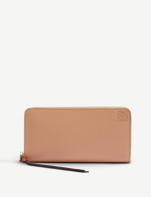 LOEWE Grained-leather zip-around wallet