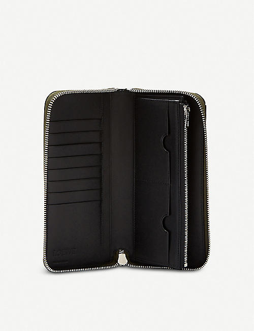 LOEWE Puzzle Open leather wallet