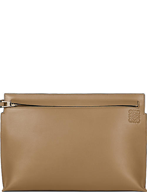 LOEWE Large leather T pouch