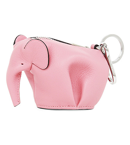 LOEWE Elephant Leather Coin Purse in Candy