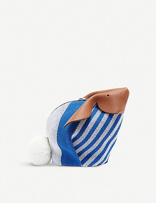 db39bb1a99 LOEWE Bunny Stripes mini cotton and calf-leather bag
