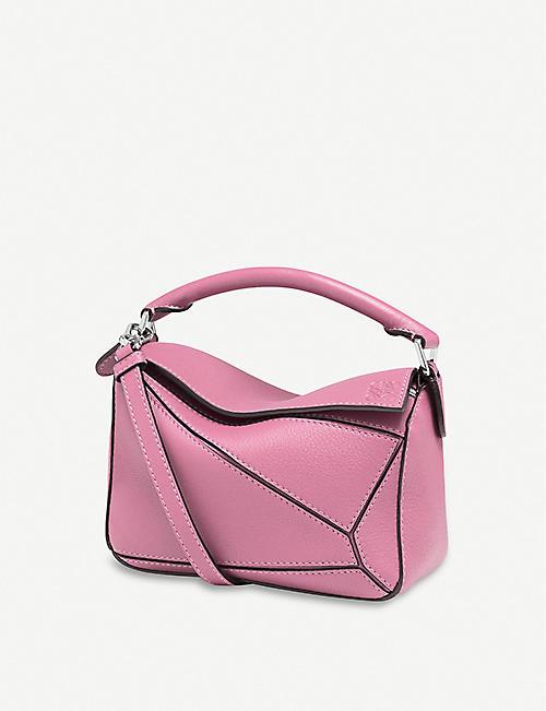 bf172a8ac59e LOEWE Puzzle mini leather shoulder bag