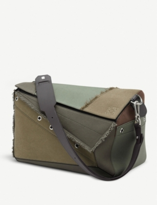 LOEWE Puzzle xl leather and canvas bag