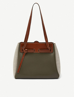 LOEWE Lazo panelled leather shopper tote