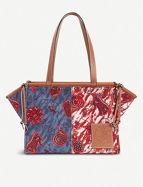 LOEWE Loewe x Paula's Ibiza Cushion printed canvas tote bag