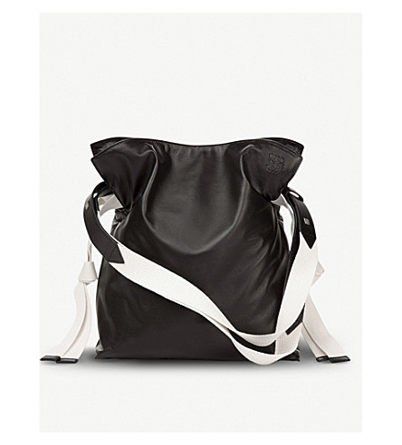 cd2fa4e8e866 ... LOEWE Flamenco knot webbing leather bag (Black. PreviousNext