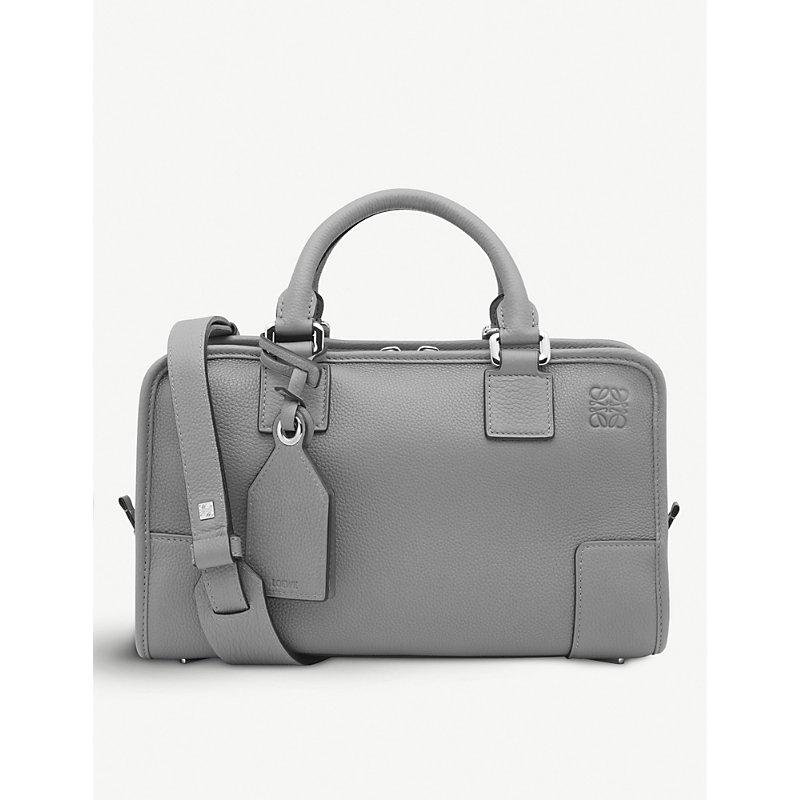 Amazona 28 Leather Tote Bag, Smoke Grey