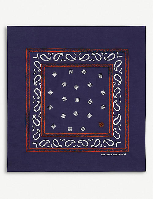 LOEWE Logo-embroidered cotton bandana