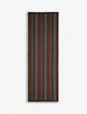 LOEWE Anagram wool, cashmere and silk-blend scarf