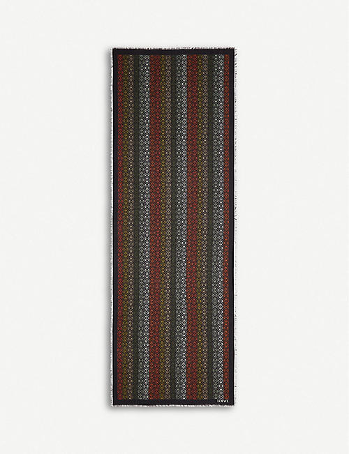 LOEWE: Anagram wool, cashmere and silk-blend scarf