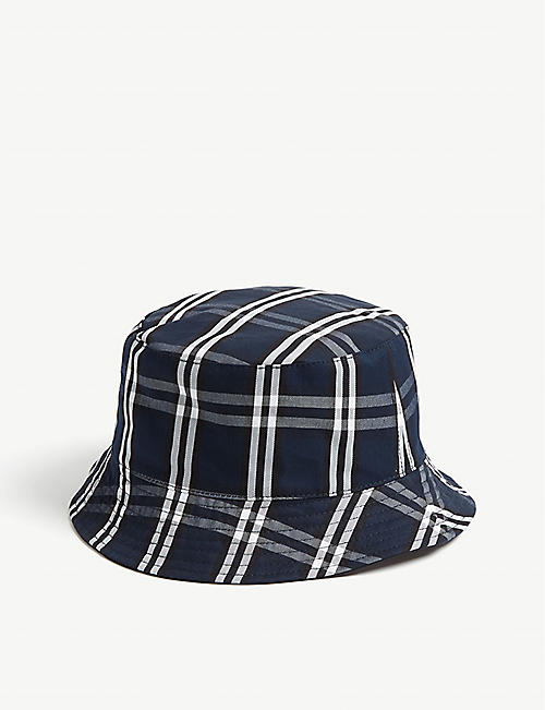 3a18177d2c1 SANDRO Cotton tartan reversible bucket hat
