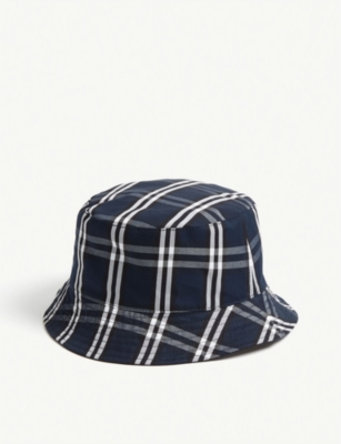 SANDRO Cotton tartan reversible bucket hat