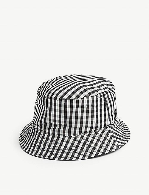 9446601faf1 SANDRO Gingham cotton reversible bucket hat