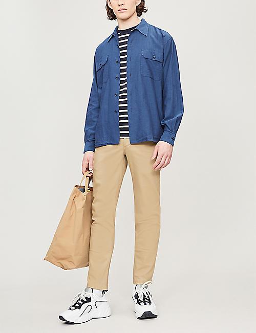 65385fe02 SANDRO Herringbone cotton shirt · Quick Shop