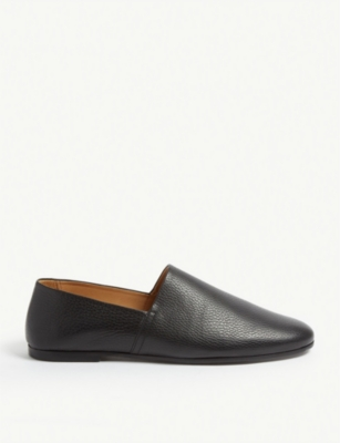 SANDRO Grained leather loafers
