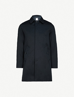 SANDRO Single-breasted cotton mac
