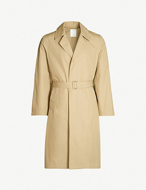 SANDRO Single-breasted cotton trench coat