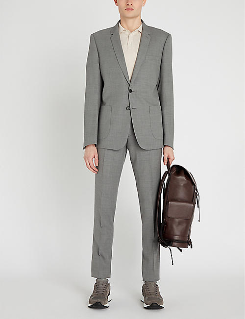 SANDRO Slim-fit straight wool trousers