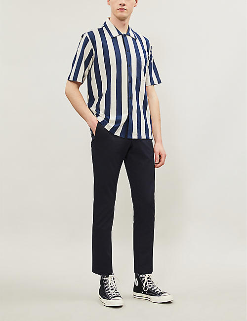 SANDRO Porter slim-fit cotton-blend trousers