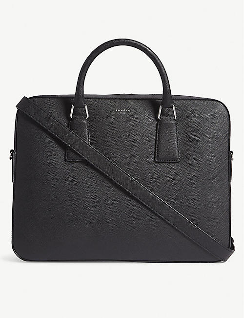 0912edbe89 SANDRO Downtown large saffiano leather briefcase