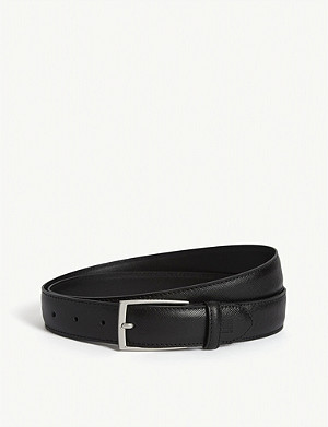 SANDRO Saffiano leather belt