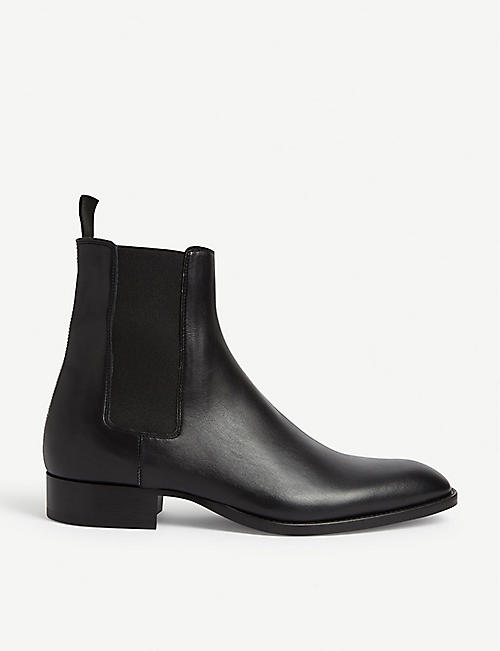 SANDRO: Leather chelsea boots