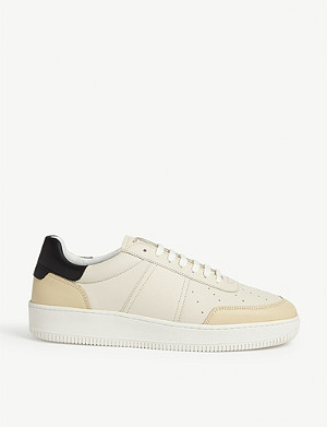 SANDRO Magic leather trainers