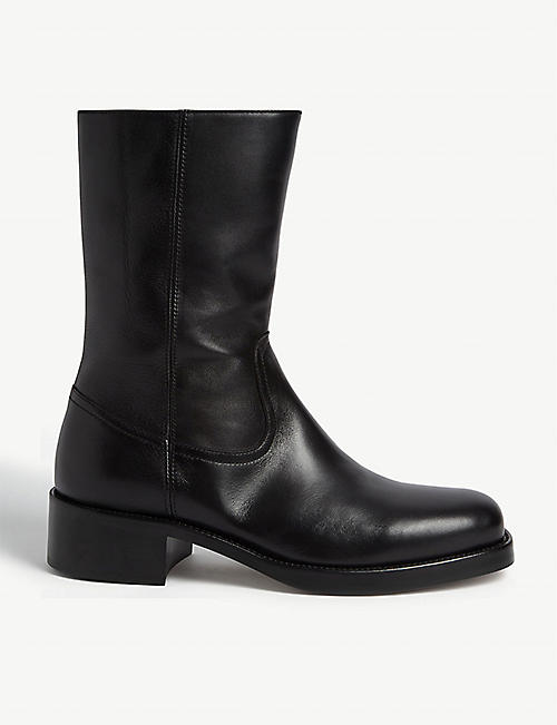 SANDRO Shacho leather ankle boots